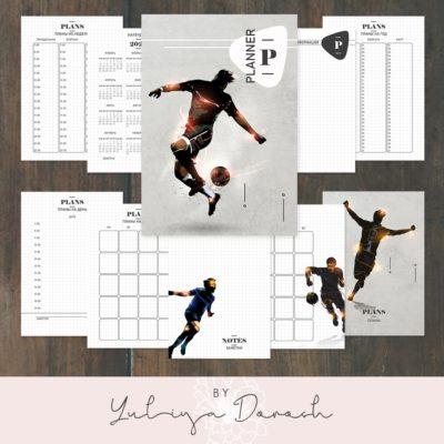 """Печатный блок для блокнота/планера """"Football"""", от 60 листов А5, 130 г/м2. см описание"""