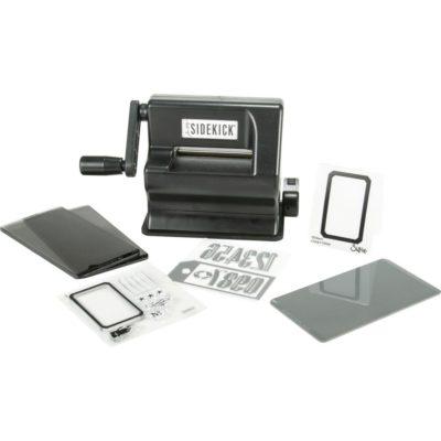 Мини-машинка для вырубки и тиснения Sizzix Sidekick Starter Kit Featuring Tim Holtz, черная