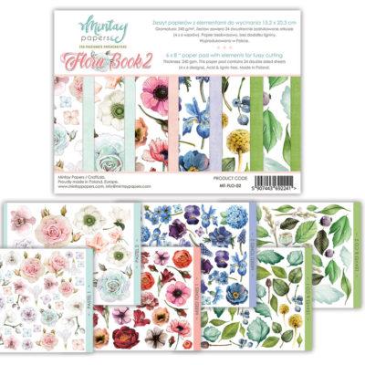 """1/4 Набора бумаги с листами для вырезания """"Flora Book - 2"""" (Mintay by Karola), 15*20 см"""