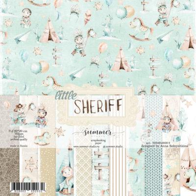 """Набор бумаги коллекции """"LITTLE SHERIFF"""" (Summer Studio), 16 л, 20*20 см"""