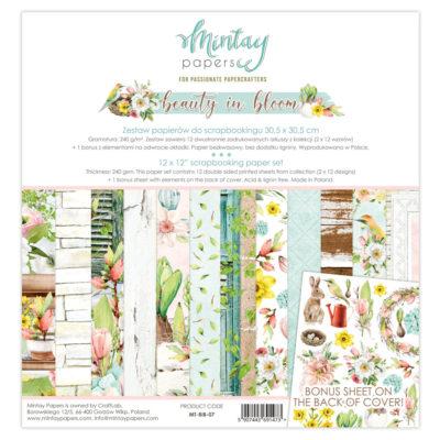"1/2 Набора бумаги коллекции ""Beauty In Bloom"" (Mintay by Karola), 30,5*30,5 см"
