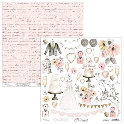 """Лист для вырезания коллекции """"Marry Me""""(Mintay by Karola), 30,5х30,5 см"""