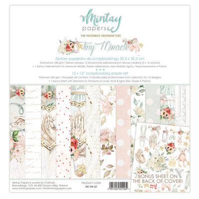 """Набор бумаги коллекции """"Tiny Miracle"""" (Mintay by Karola), 30,5*30,5 см, 12 л + бонус"""