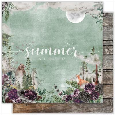 "Лист бумаги ""WILD FOREST"" Коллекция ""WILD FOREST"" (Summer Studio), 30,5х30,5"