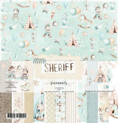 """Набор бумаги коллекции """"LITTLE SHERIFF"""" (Summer Studio), 11 л, 30,5*30,5 см"""