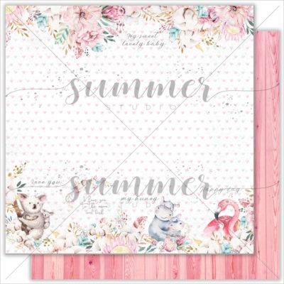 "Лист бумаги ""FAMILY TIES"" Коллекция ""MOTHER'S TENDERNESS"" (Summer Studio), 30,5х30,5"