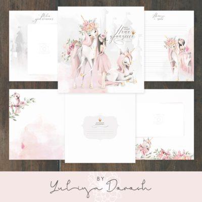 """Печатный блок для альбома (Baby book) """"Наша принцесса"""", 21х21 см или с длинным корешком"""