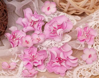 """Декоративные цветы """"Нежность"""", розовый, 11 шт"""
