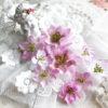 """Декоративные тканевые цветы """"Базовые"""" (Полина Савченко), сиреневый микс, 9 шт"""
