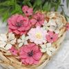 """Декоративные тканевые цветы """"Базовые"""" (Полина Савченко), бордовый микс, 14 шт"""