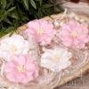 """Декоративные тканевые цветы """"Воздушные"""" (Полина Савченко), розовый микс, 5 шт"""