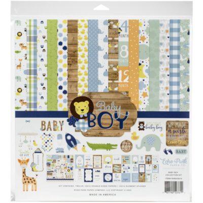 """Набор бумаги коллекции """"Baby Boy"""" (Echo Park), 30х30 см"""