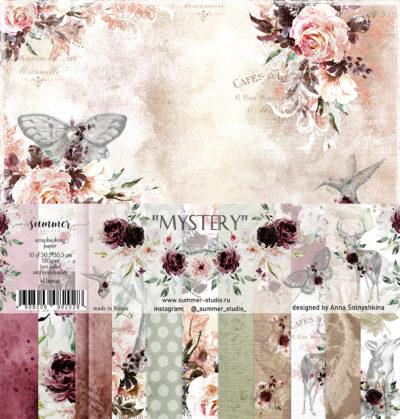 "Набор бумаги коллекции ""MYSTERY"" (Summer Studio), 11 л, 30,5*30,5 см"