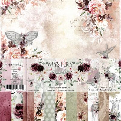 "Набор бумаги коллекции ""Mystery"" (Summer Studio), 16 л, 20*20 см"