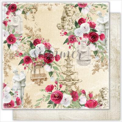 """Лист бумаги """"Summer city"""" коллекции """"Antique garden"""" (Summer Studio), 30,5х30,5 см"""