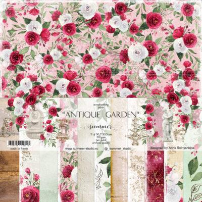 """Набор бумаги коллекции """"ANTIQUE GARDEN"""" (Summer Studio), 11 л, 30,5*30,5 см"""