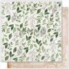 """Лист бумаги """"Fallen leaves"""" коллекции """"Antique garden"""" (Summer Studio), 30,5х30,5 см"""