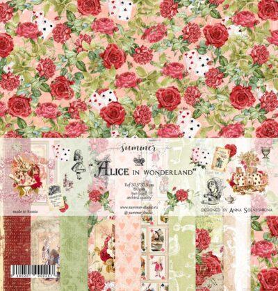 """Набор бумаги коллекции """"Alice in wonderland"""" (Summer Studio), 11 л, 30,5*30,5 см"""