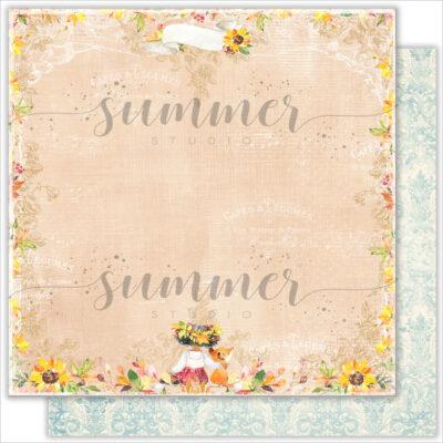 "Лист бумаги ""This Day"" коллекции ""Autumn stories"" (Summer Studio), 30,5х30,5 см"