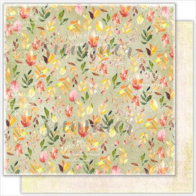 "Лист бумаги ""Leaf fall"" коллекции ""Autumn stories"" (Summer Studio), 30,5х30,5 см"