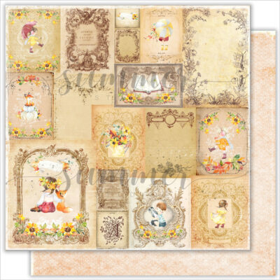 "Лист бумаги ""Warm memories"" коллекции ""Autumn stories"" (Summer Studio), 30,5х30,5 см"
